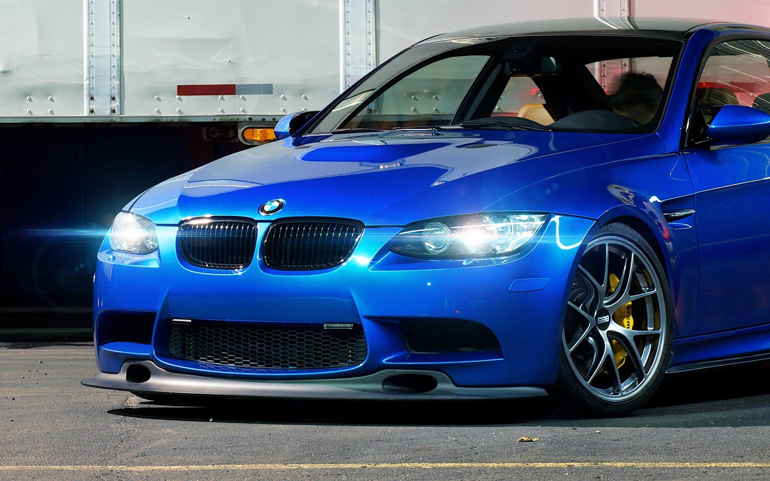 BMW M3 E92 Blue Car Wallpaper HD Download High Quality 2560x1600