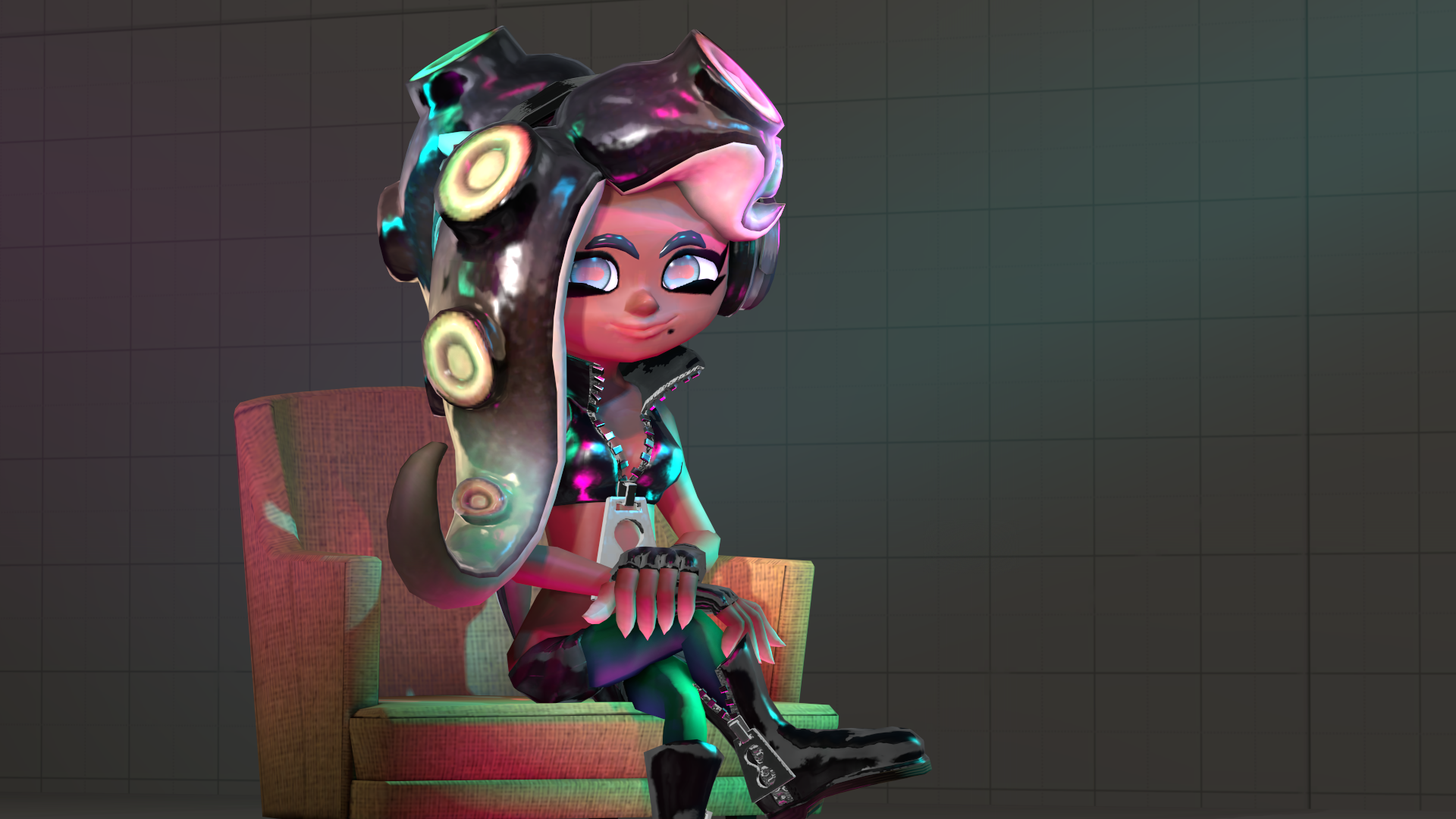 here have a marina reaction pic i made splatoon 1920x1080