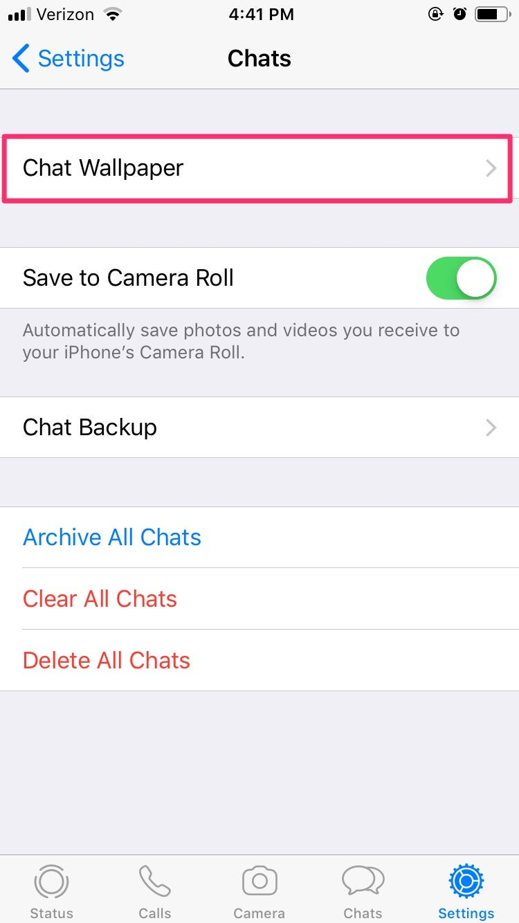 How to change the WhatsApp background in your chats 750x1334