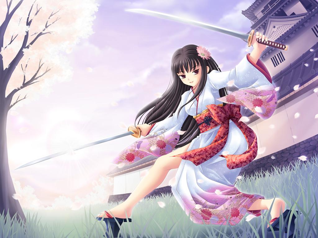 Sexy Samurai Anime Girls Wallpapers Imagez Only 1024x768