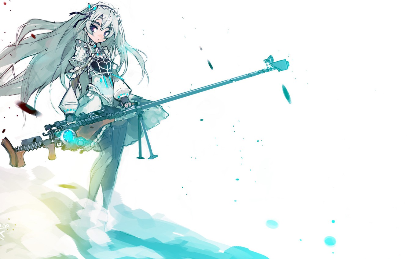 Wallpaper girl weapons barrette sniper rifle Chaika the coffin 1332x850
