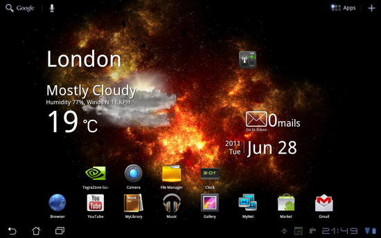 Live Wallpaper For Android Tablet 550x344