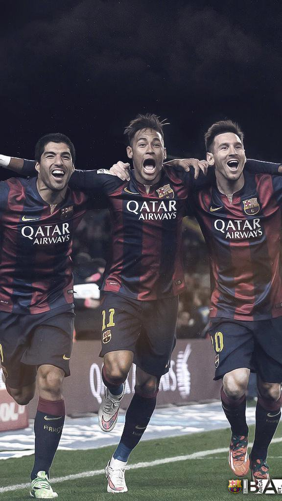mesqueunclubgr Wallpaper Suarez Neymar and Messi 576x1024