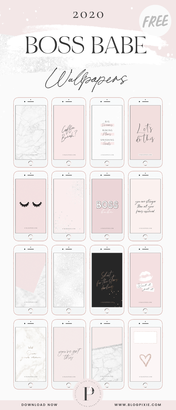 Phone Wallpapers 2020   Girly iPhone Backgrounds   Blog Pixie 735x1704