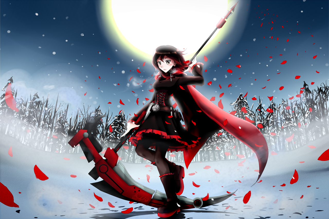 rwby ruby rose by ssgt lulz fan art manga anime digital movies tv red 1280x853