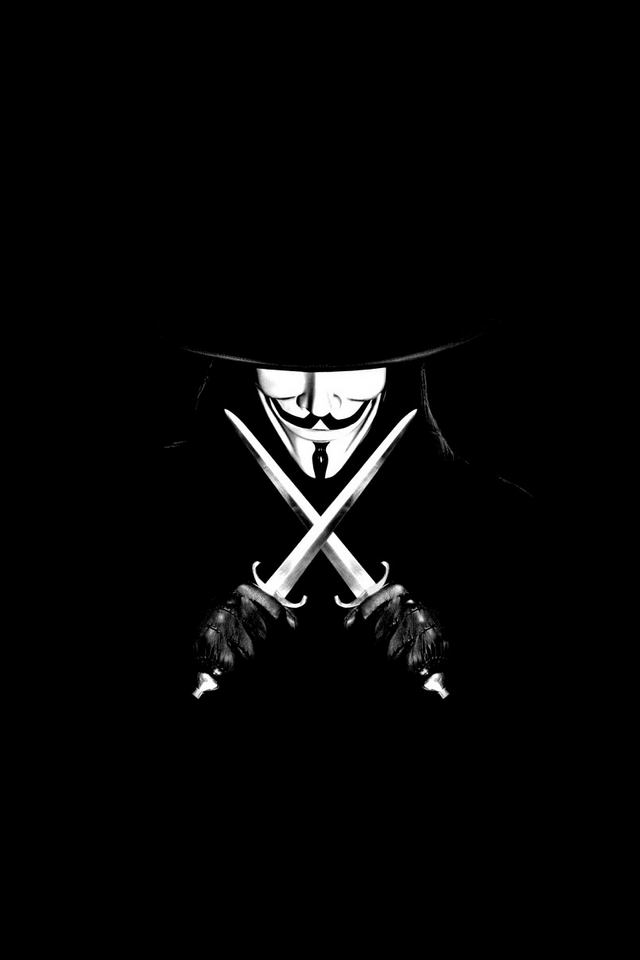 Guy Fawkes Wallpaper Iphone For vendetta iphone android 640x960