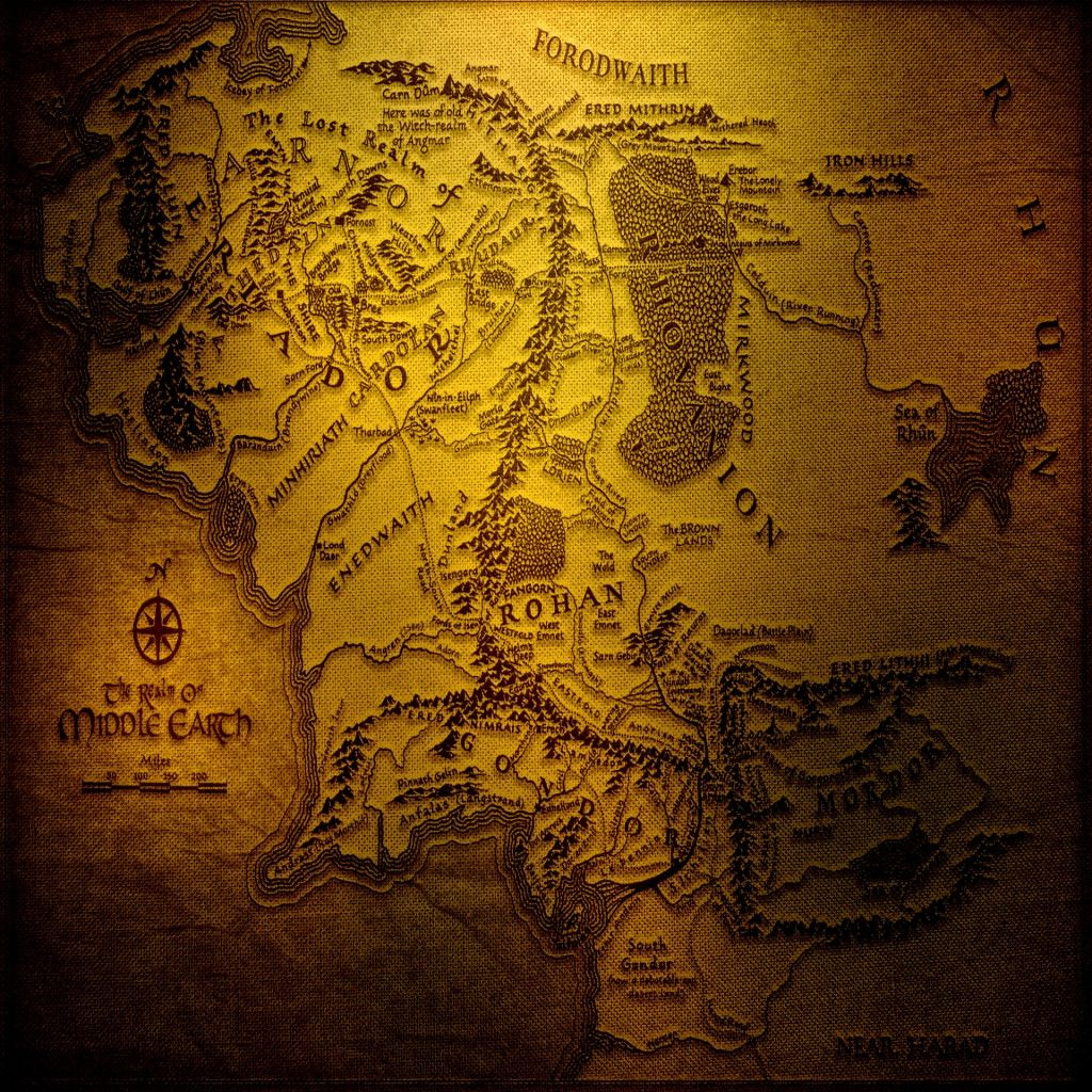 Desktop Wallpaper World Map: Middle Earth Map Desktop Wallpaper