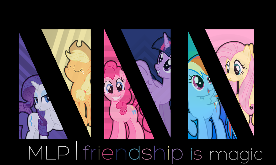 My little pony FIM banner wallpaper BN 5TP by ElectricxWavex on 932x556