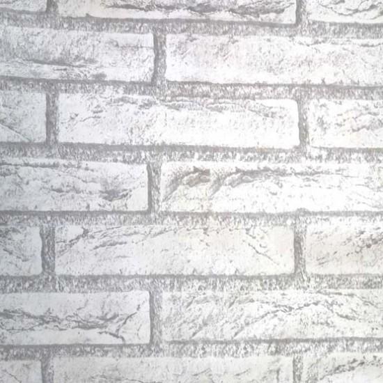 45cm Vintage Grey Brick Peel Stick Wallpaper   Self Adhesive 550x550