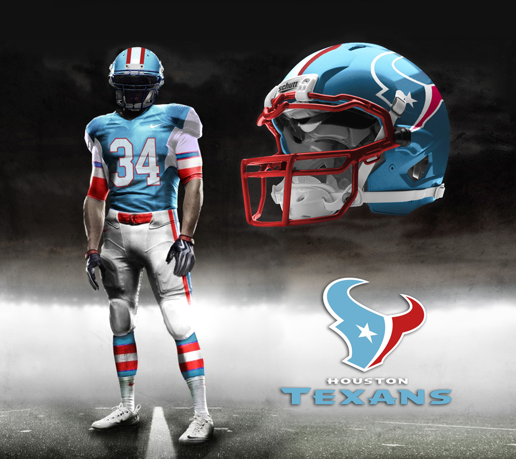 texans throwback If The Texans Had A Throwback Oilers Uniform 1024x910