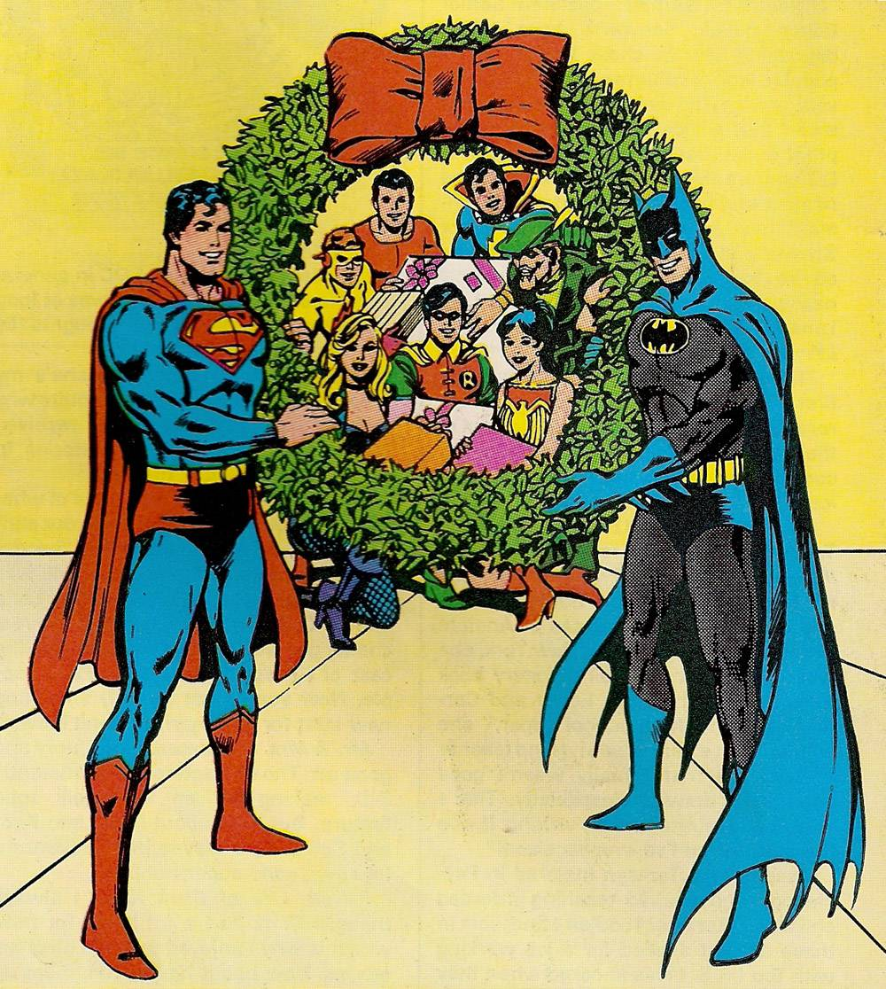 Superheroes Christmas 4 A Christmas picture of some superheroes Some 1000x1116