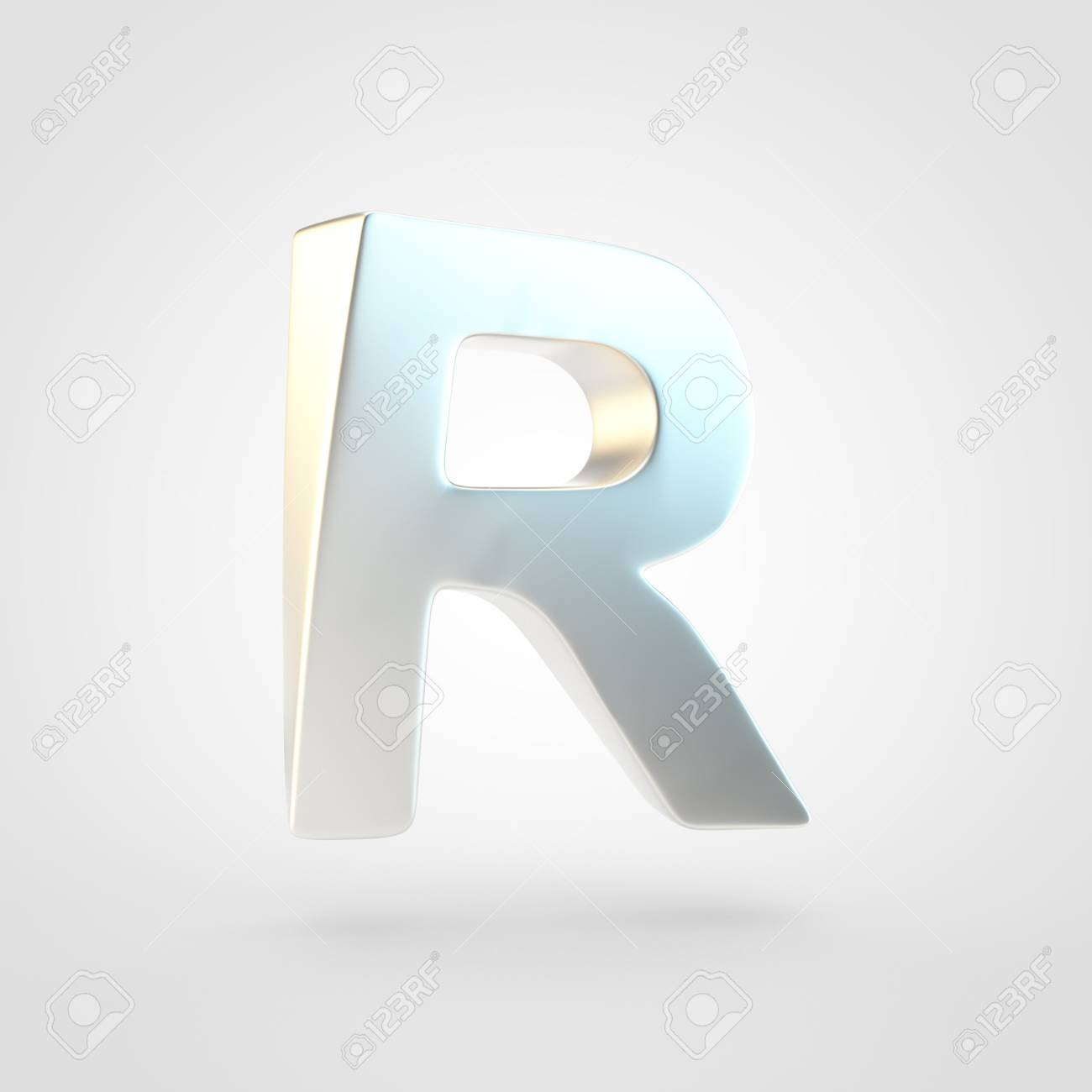 Silver Letter R Uppercase 3D Rendering Of Matted Silver Font 1300x1300