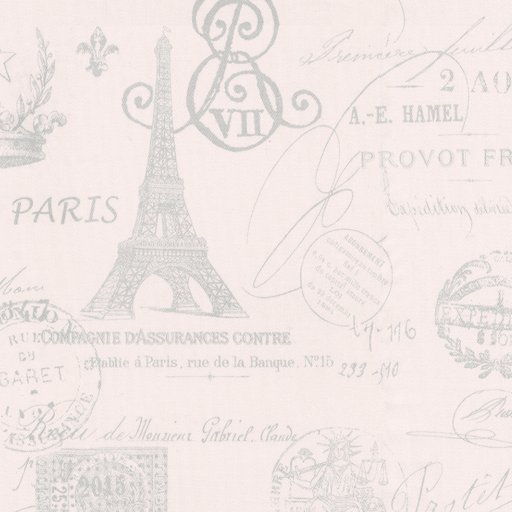 Free Download Pink French Script Fabric By The Yard Pink