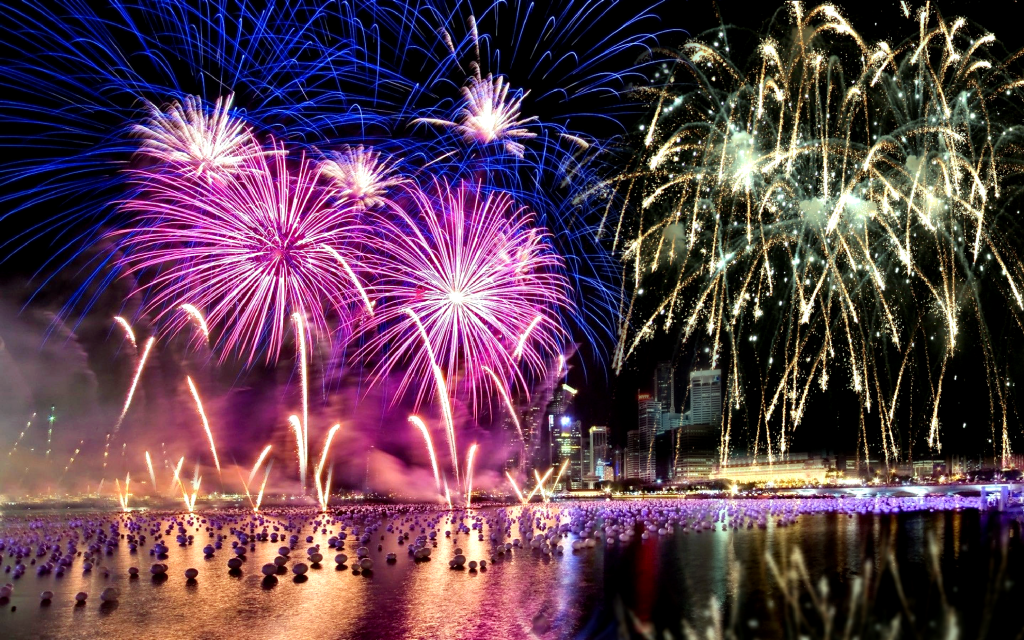 Download Happy New Year 2015 CountDown Fireworks HD Wallpaper Search 1024x640