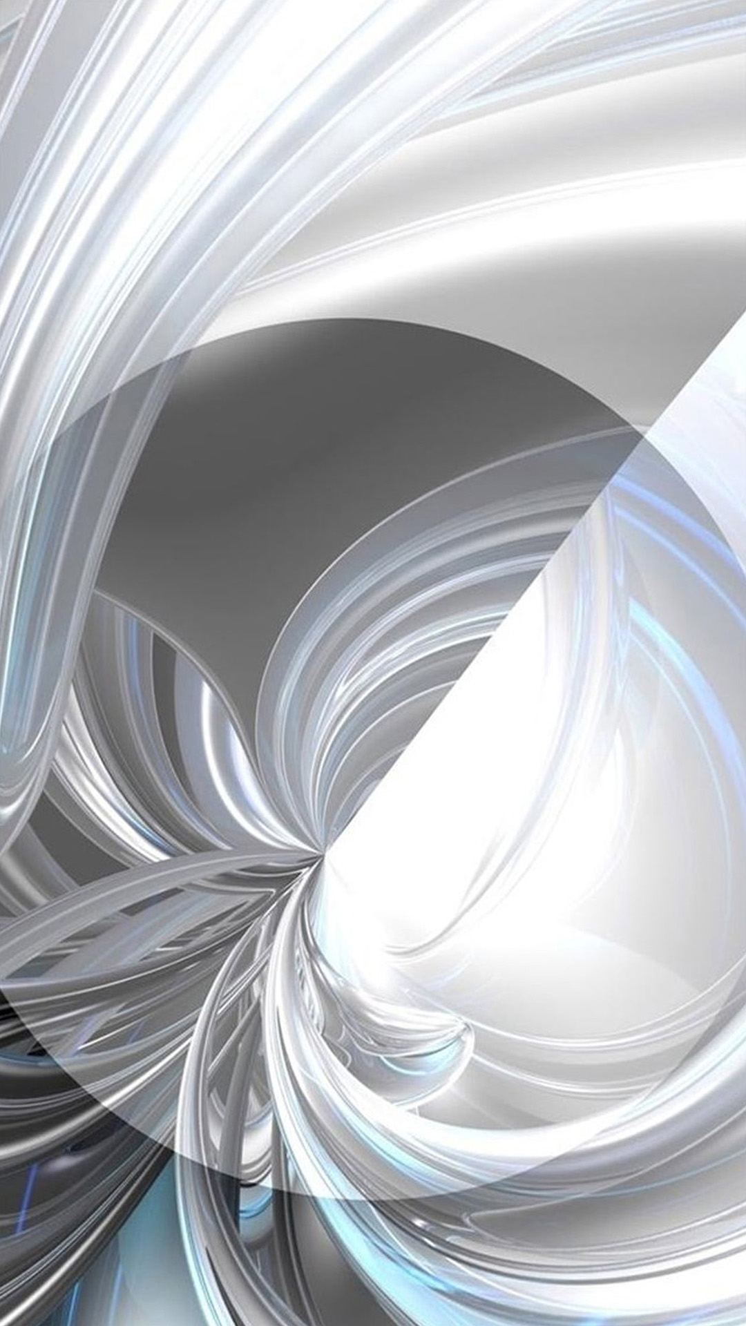 3D white design Galaxy S5 Wallpapers 1080x1920