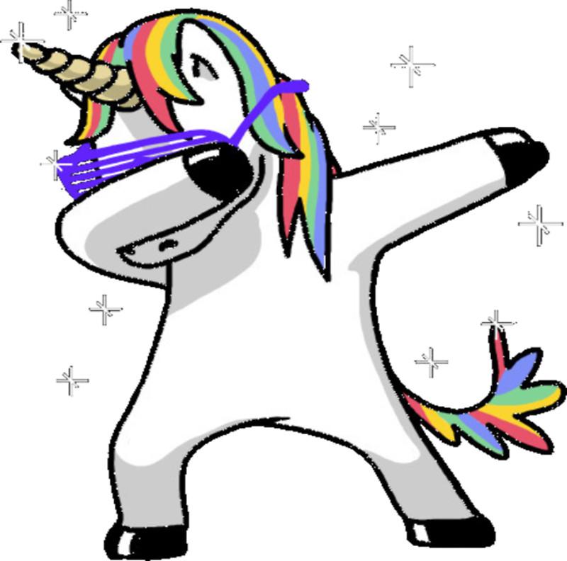 Dabbing Unicorn Stickers by bizzleapparel Redbubble 800x792