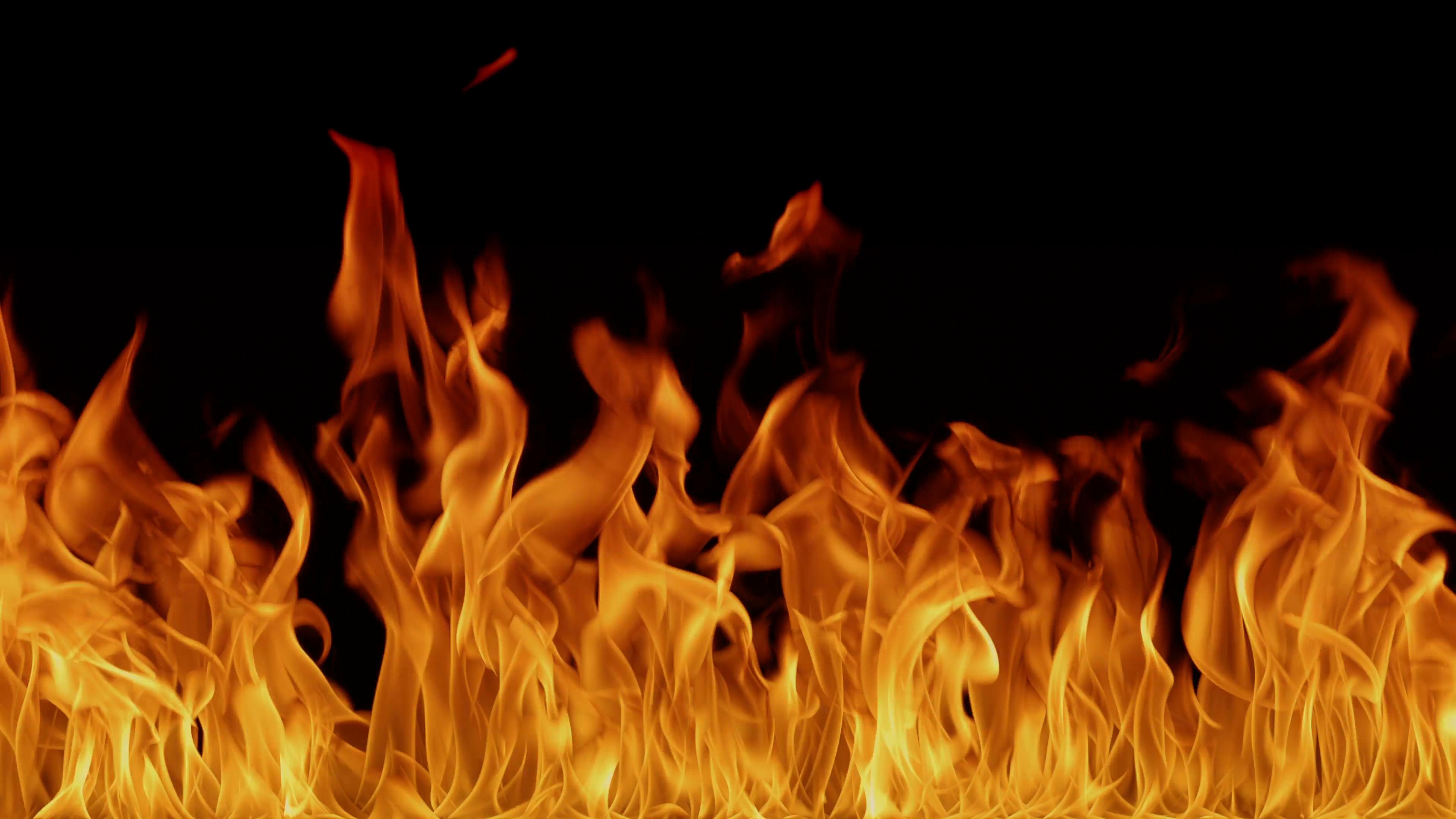 Hell inferno fire background Fire burn hot witchcraft video art 3840x2160