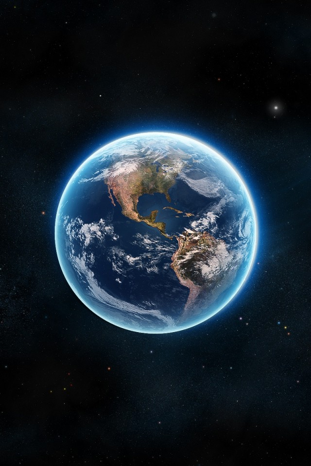 Earth The Blue Planet iPhone 4s Wallpaper Download iPhone Wallpapers 640x960