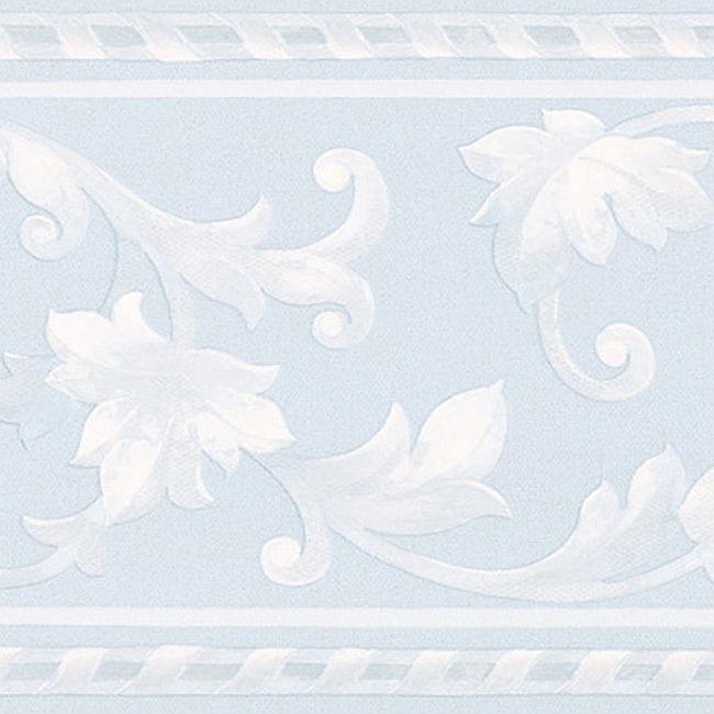 Light Blue Scroll Border Wallpaper eBay 650x650