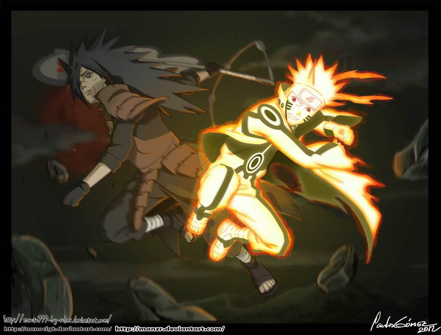 Epic Battle NARUTO VS MADARA by NanoCigT 900x684
