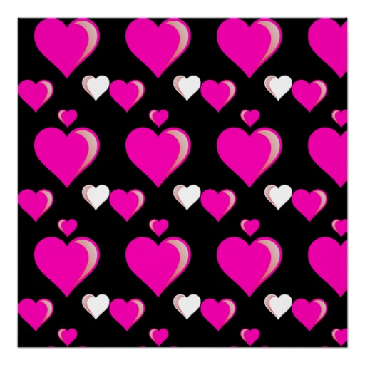 Hot Pink And Black Hearts Hot pink and black hearts 512x512
