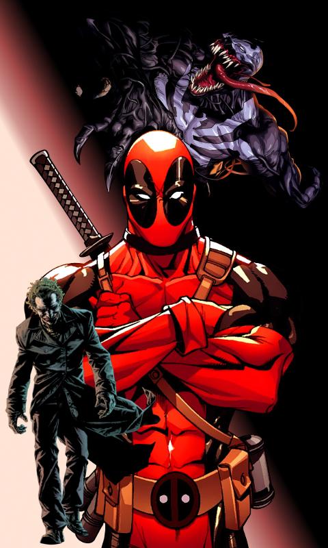Free Download The Joker Deadpool Venom By Skarrdwar 480x800 For Your Desktop Mobile Tablet Explore 99 Venompool Wallpapers Venompool Wallpapers