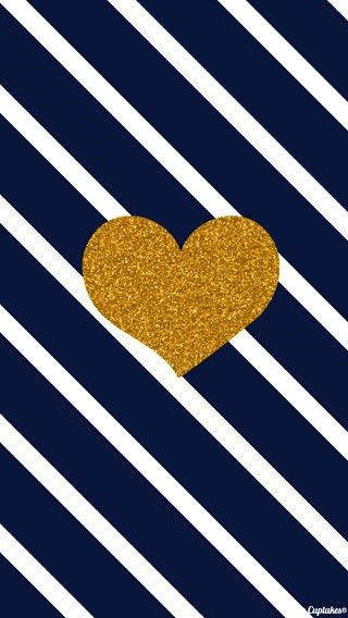 navy and gold heart background 320x568