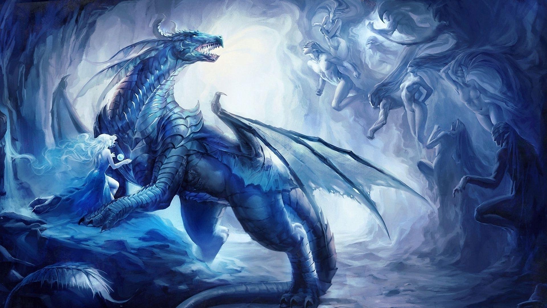blue dragon wallpaper wallpapersafari