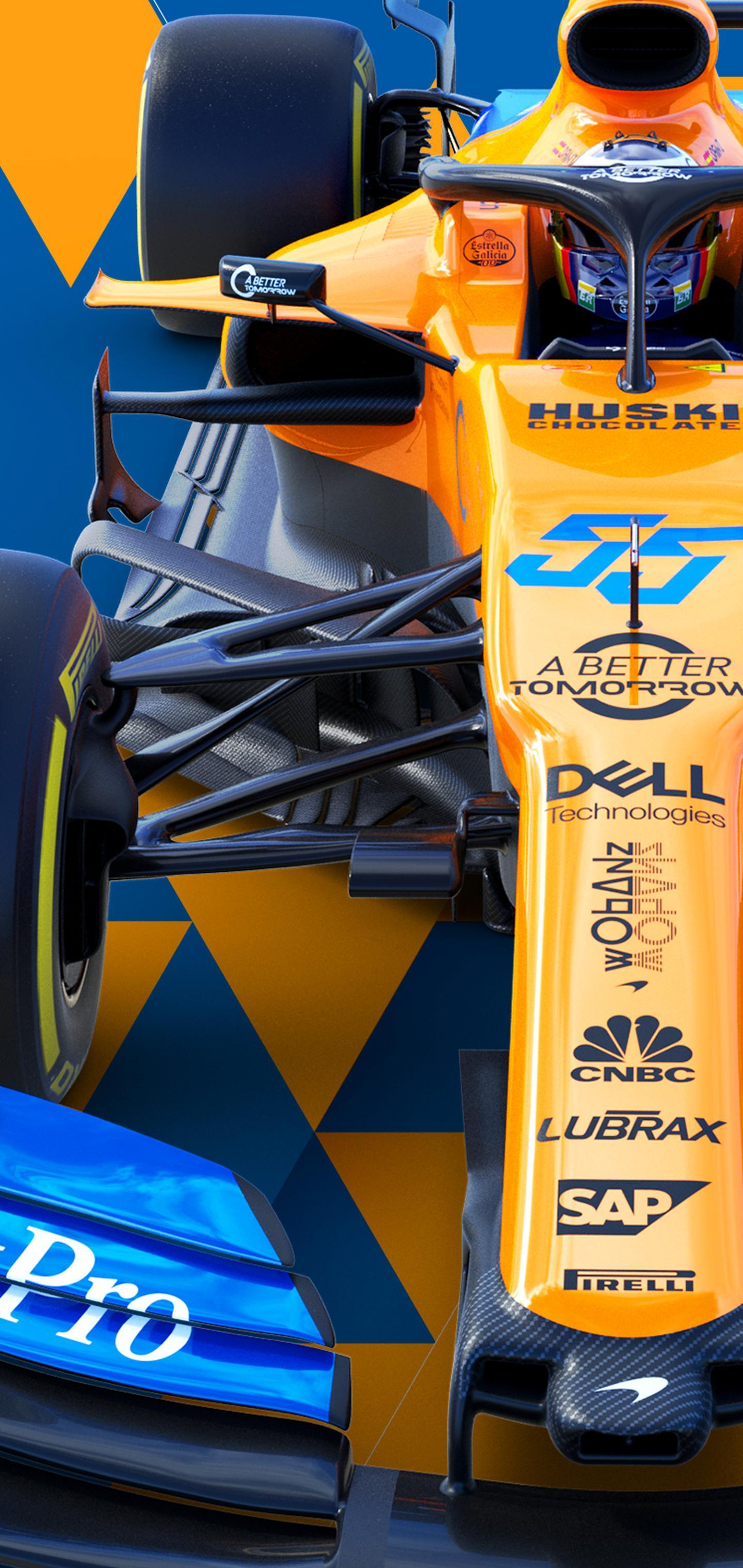 Mclaren F1 Racing 2 by Aymms16 Galaxy S10 Hole Punch Wallpaper 1440x3040