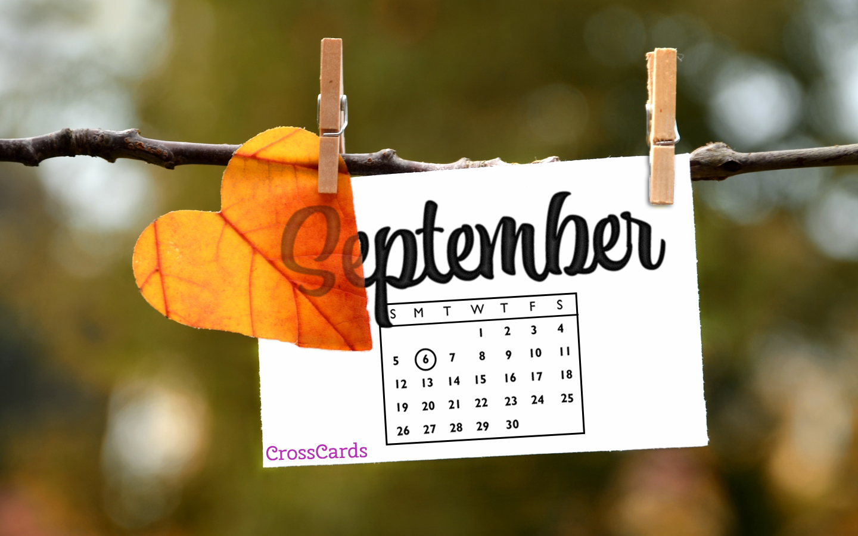 September 2021   Autumn Note Desktop Calendar  September 1440x900