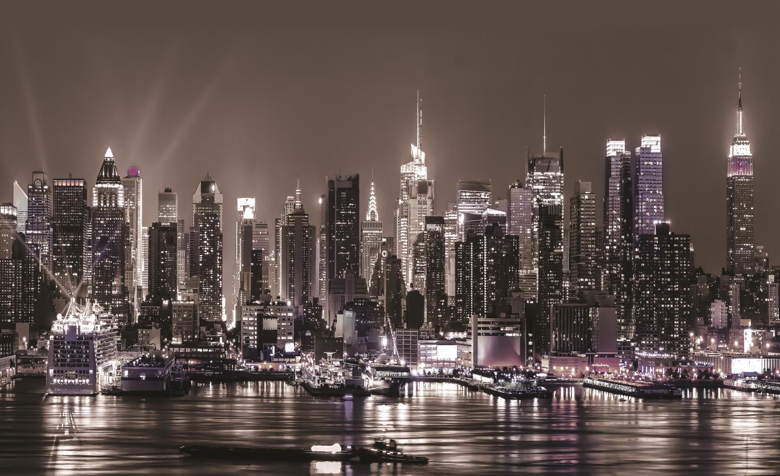 New York City Skyline Urban PHOTO WALLPAPER WALL MURAL PICTURE 1311P 1591x971