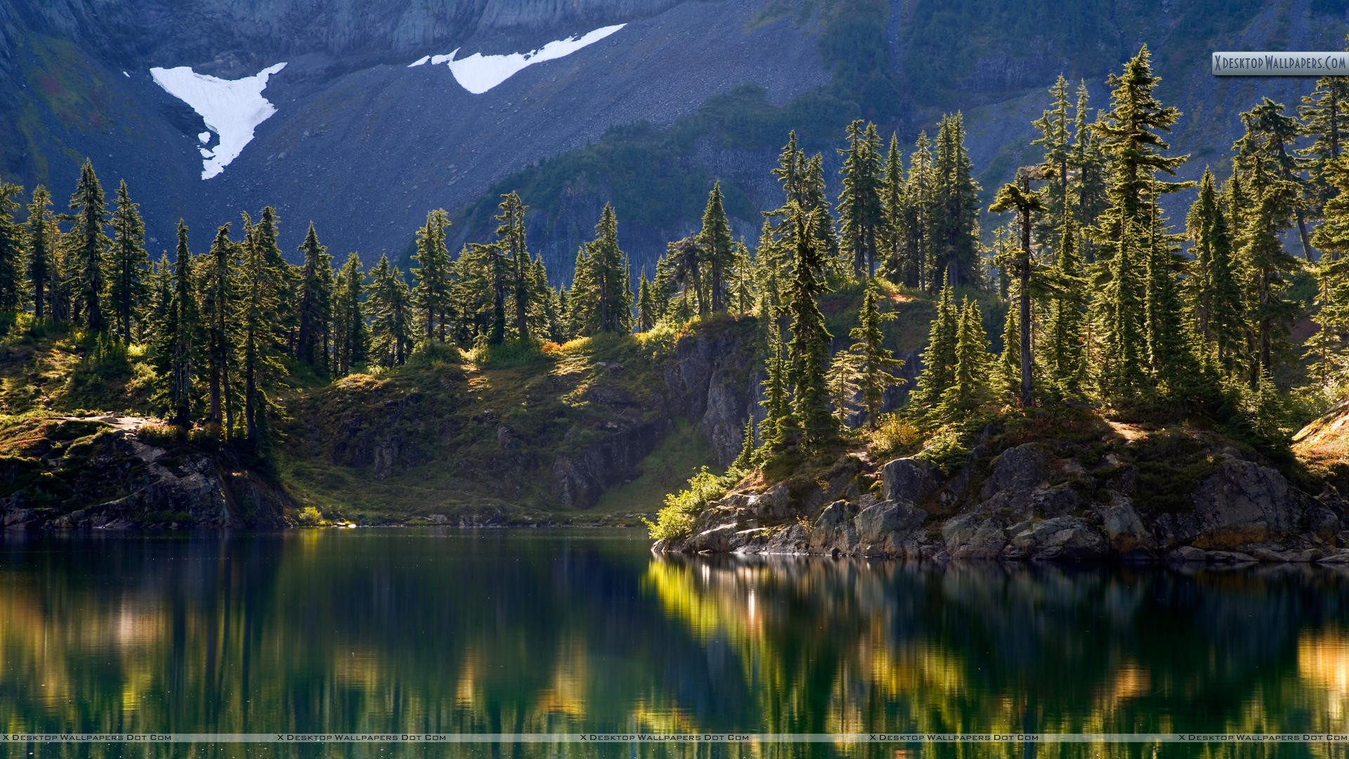 Hayes Lake Mount Baker Wilderness Washington Wallpaper 1920x1080