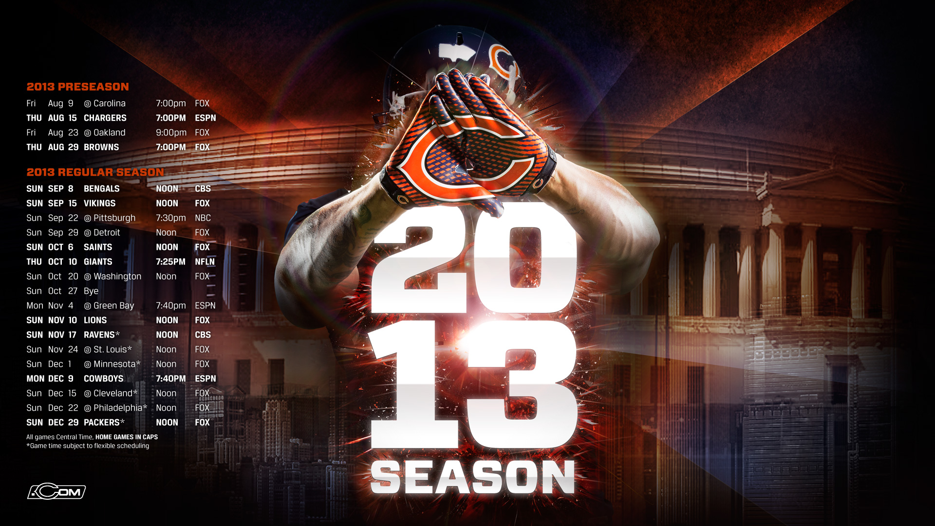 Chicago Bears Wallpaper Collection For Download 1920x1080