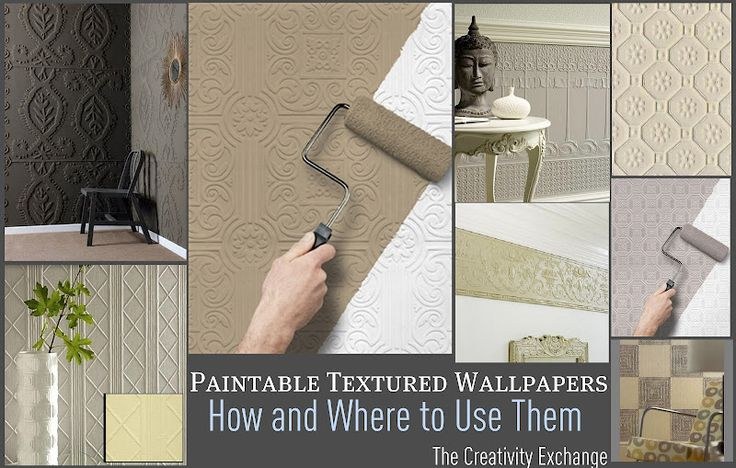 Tutorial for how and where to use paintable textured wallpaper 736x468