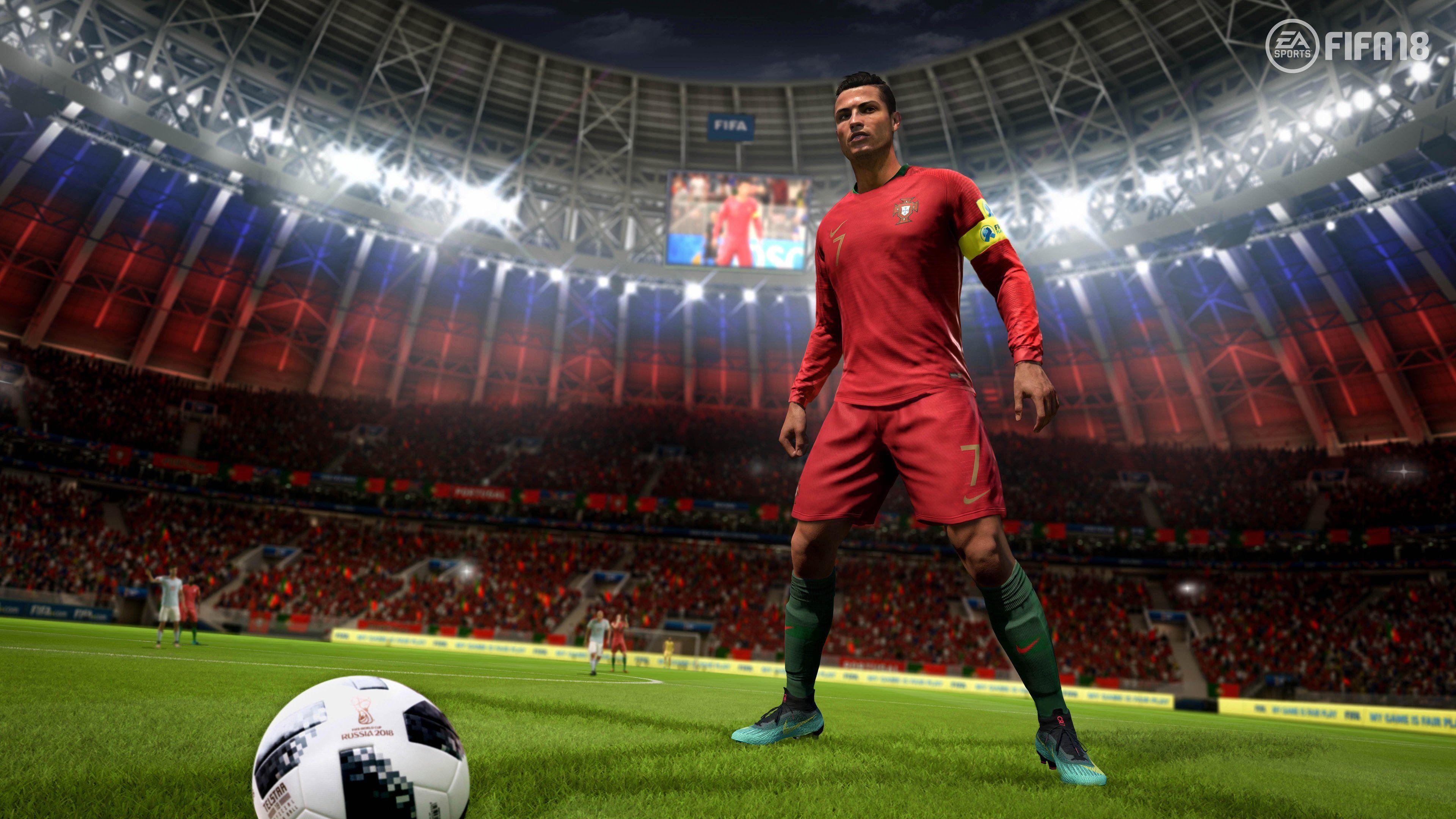 Ronaldo Fifa 18 4k sports wallpapers hd wallpapers games 3840x2160