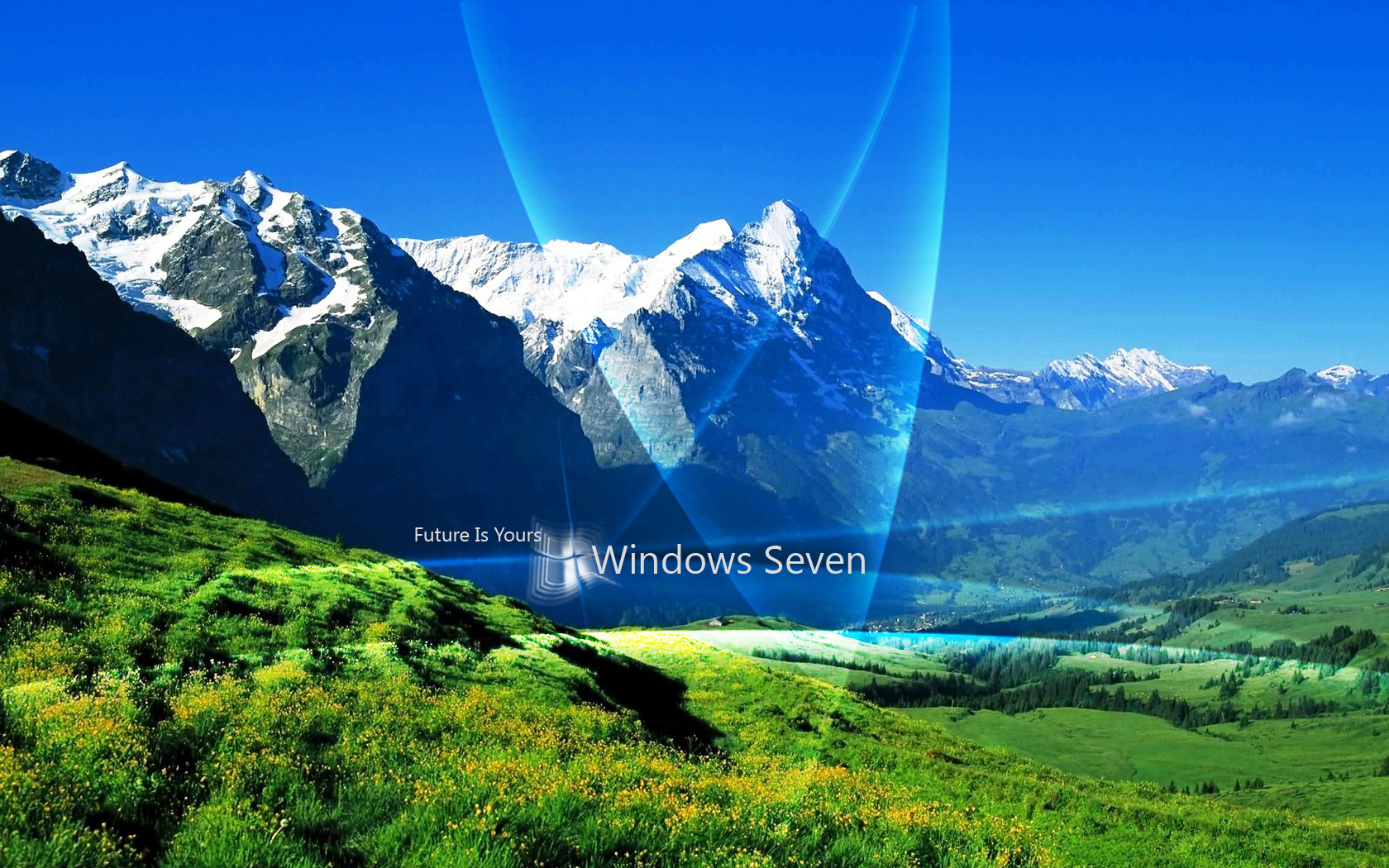 windows 7 seven future is yours wallpaper 1680x1050