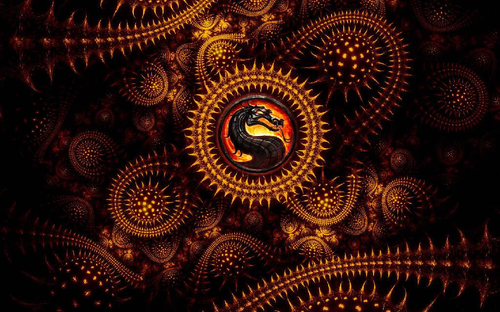 wallpaper mortal kombat dragon logo
