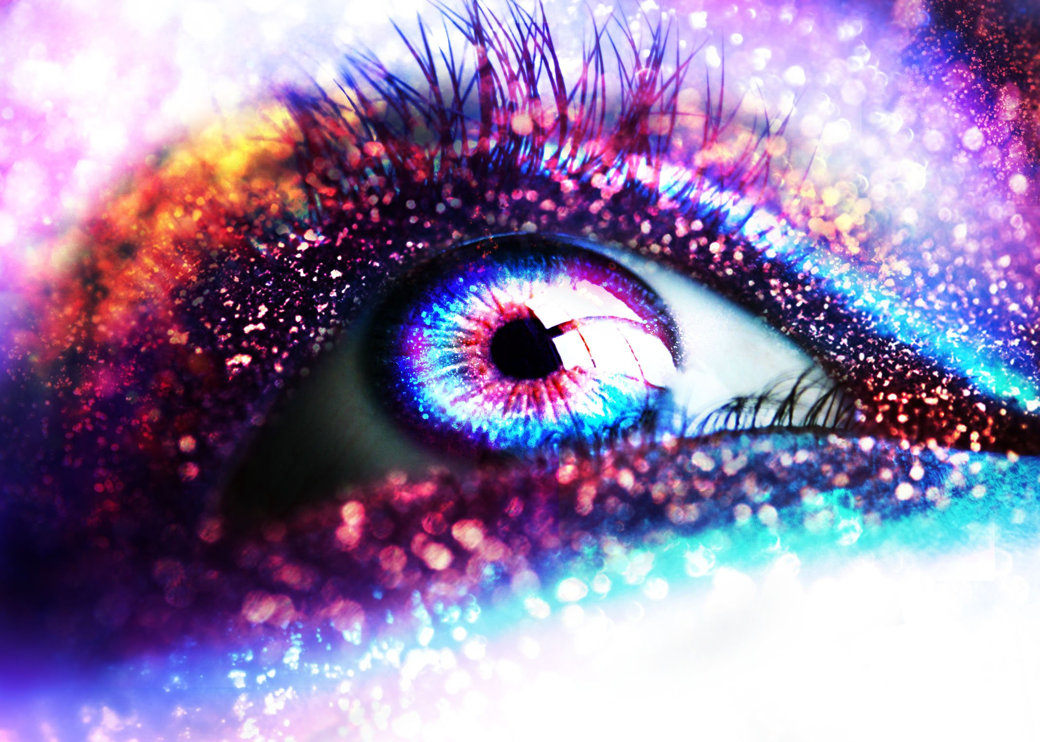 glitter sparkle psychedelic abstract abstraction bokeh eyes eye 2136x1524