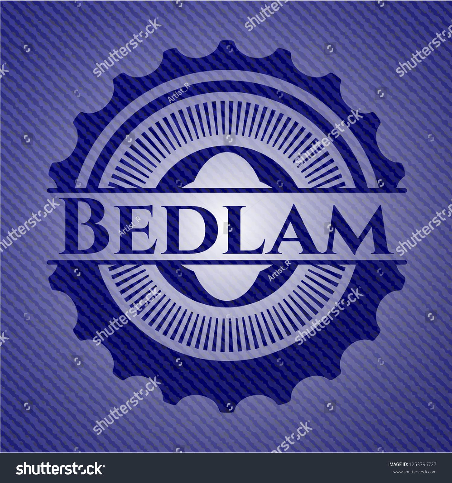 Bedlam Emblem Jean High Quality Background Stock Vector Royalty 1497x1600