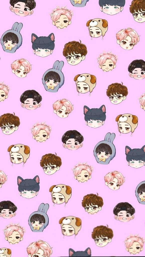 Bts chibi wallpapers if u want an individual member lmk Park 579x1024