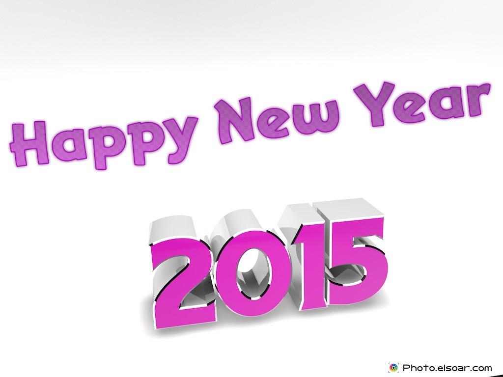 Elegant Happy New Year 2015 3D Wallpapers Elsoar 1024x768