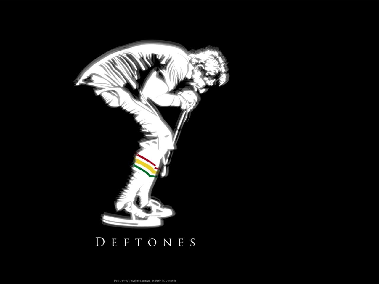Deftones Background Silhouette Singer Microphone X Hd Wallpaper HD 1280x960