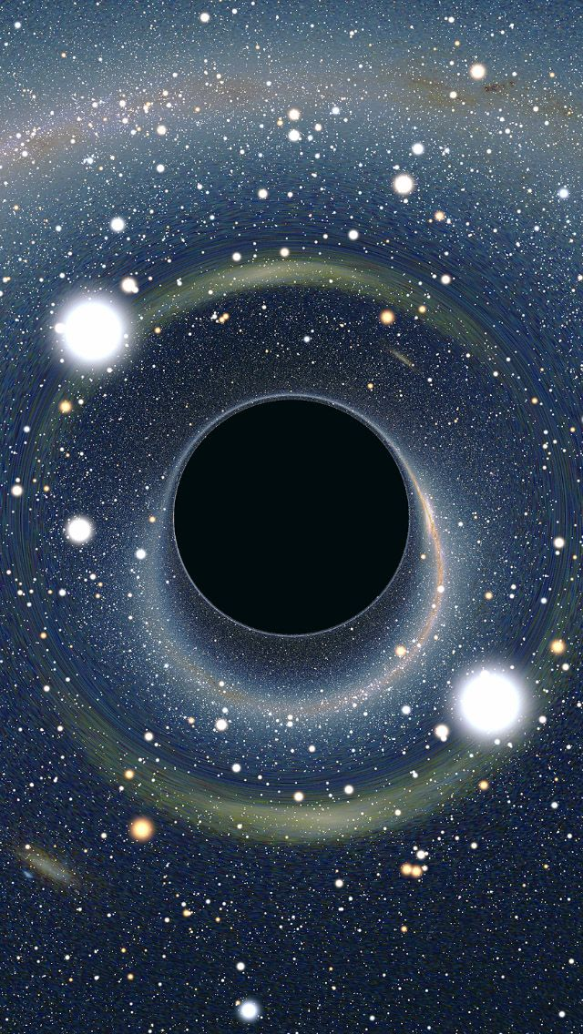 Black Hole Wallpaper Stunning Space in 2019 Black hole 640x1136