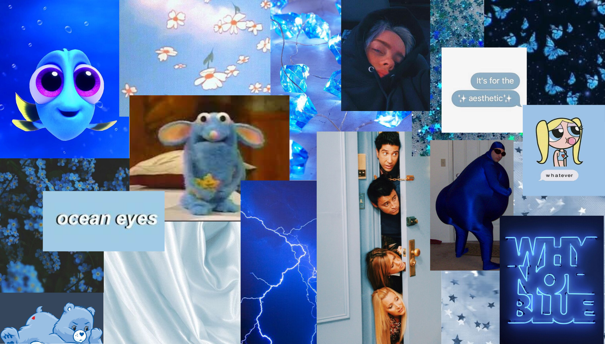 Aesthetic wallpaper laptop blue in 2020 Aesthetic wallpapers 2000x1137