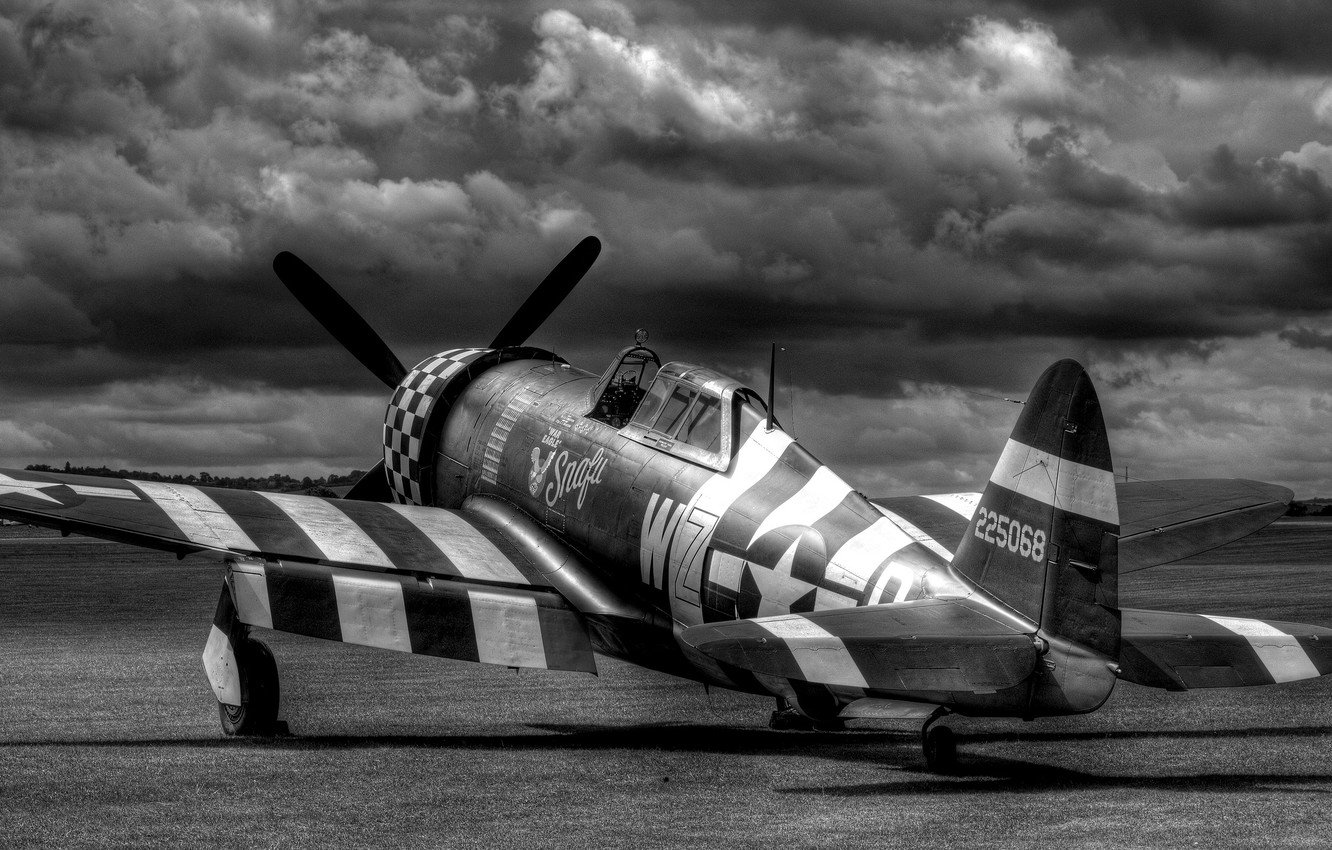 Wallpaper fighter the airfield Thunderbolt P47 images for 1332x850