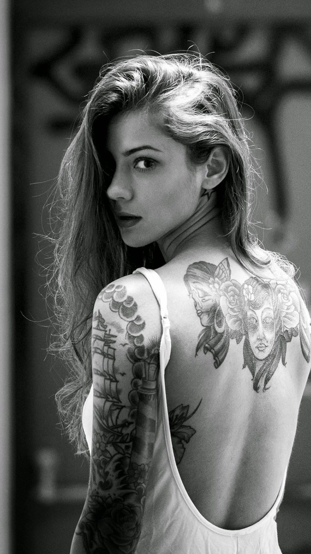 Tattooed Women Wallpaper posted by Christopher Sellers 1080x1920