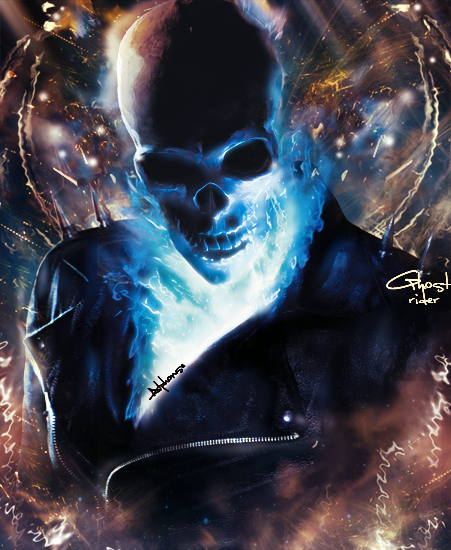 Blue Ghost Rider 3 Ghost rider by wolv3rin3 451x550