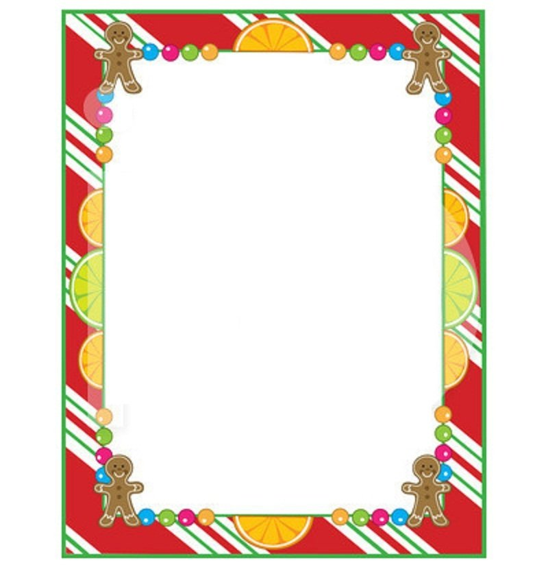 Christmas Clipart Illustration Borders And Frames Printable 800x840