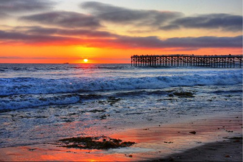 Pacific Beach Sunset Sun Rise   HD Beach Wallpapers 500x333