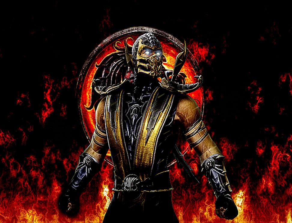 Mortal Kombat X Scorpio 3d Cool Video Games Wallpapers: Mortal Kombat 9 Scorpion Wallpaper